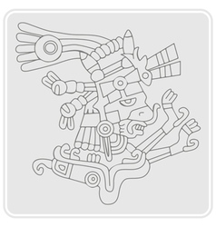 Monochrome icon with symbols from Aztec codices vector