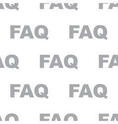 New Faq seamless pattern vector image