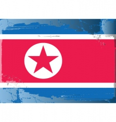 North korea national flag vector image