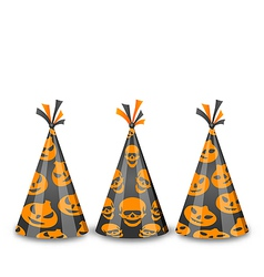 Party hats for Halloween isolated on white vector image