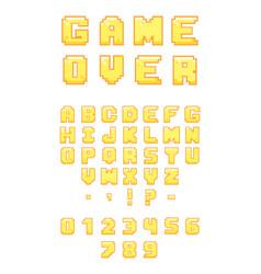 Pixel retro font vector