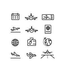plane flight airport vector image