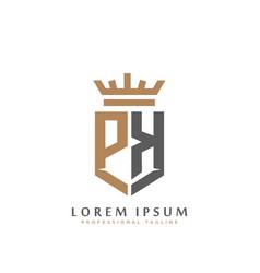 premium pk monogram two letters pk elegant vector image