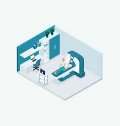 Qualitative isometry medical characters mri room vector