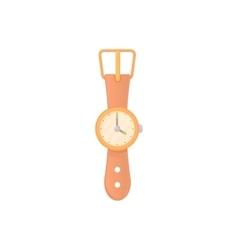 Round wrist watch icon cartoon style vector image