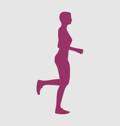 running lady silhouette vector image