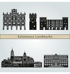 Salamanca landmarks and monuments vector