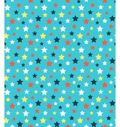 Seamless bright abstract pattern with stars vector