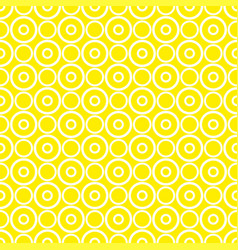seamless pattern with white polka dots on yellow vector image