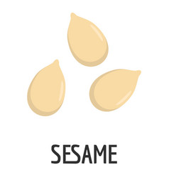 Sesame icon flat style vector