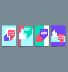 Set minimal design backgrounds design for flyer vector