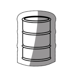 Silhouette sticker metallic barrel icon design vector