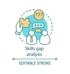 Skills gap analysis concept icon vector