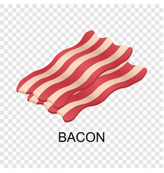 slice of bacon icon isometric style vector image