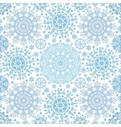Snowflakes lace symmetry seamless pattern vector image