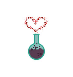 Spell love in tube test fairytale object isolated vector