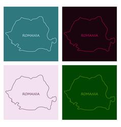 symbol poster banner romania silhouette romanian vector image