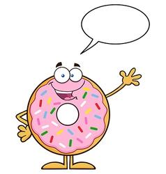 Talking Donut Cartoon vector image