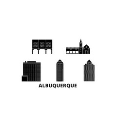 United states albuquerque city flat travel vector
