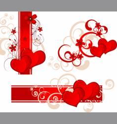 Valentines day banner set vector