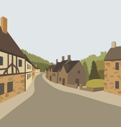 Village background vector image