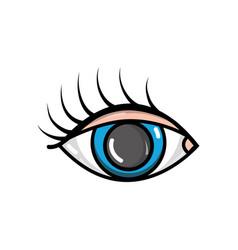 vision eye with eyelashes style design vector image