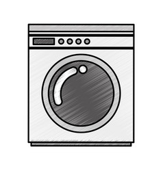 wash machine isolated icon vector image