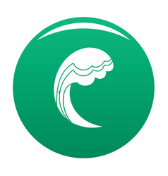 wave water ocean icon green vector image