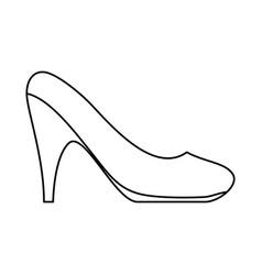 woman heel footwear vector image