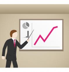 businessman graphs vector image