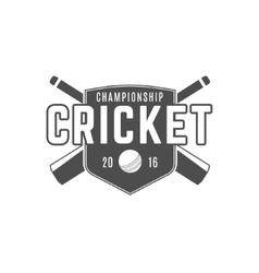 Cricket team emblem and design elements vector