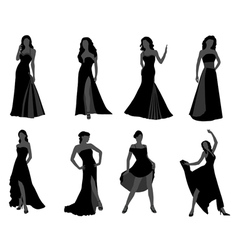 Silhouette of the woman vector image vector image