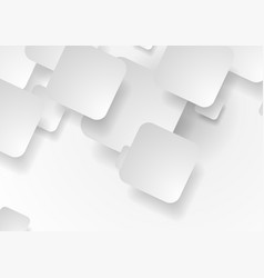 white and grey tech paper squares background vector image vector image
