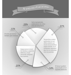 3D business pie chart vector image vector image