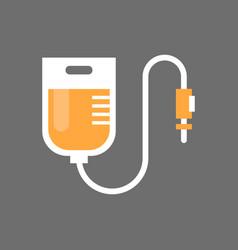 blood transfusion icon medical donation concept vector image