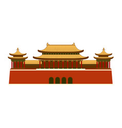 east asian building icon vector image