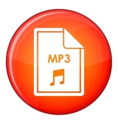 File MP3 icon flat style vector image vector image