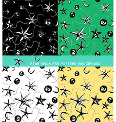 seamless pattern background of star vector image vector image