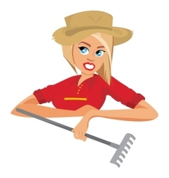 Woman farmer vector image vector image