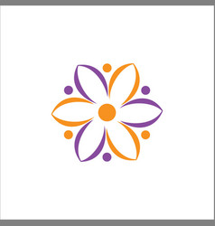 abstract flower eco logo vector image