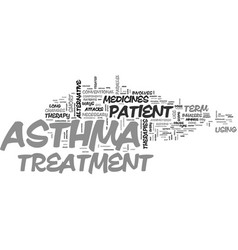 asthma treatment ways text word cloud concept vector image