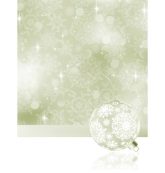 Elegant Christmas balls on abstract EPS 8 vector image vector image