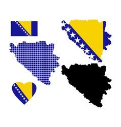 Map Bosnia vector image vector image