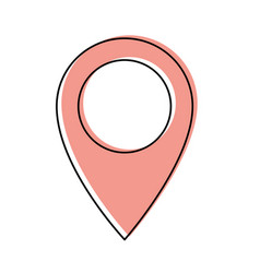 map pointer flat icon in watercolor silhouette vector image