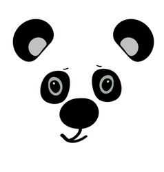 panda cute funny cartoon head vector image