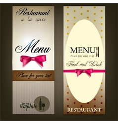 Restaurant Menu design Vintage template vector image vector image
