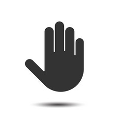simple hand icon vector image