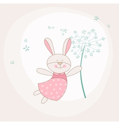 Baby Shower or Arrival Card - Baby Bunny vector image vector image
