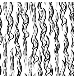 ink hand drawn abstract seamless pattern vector image vector image