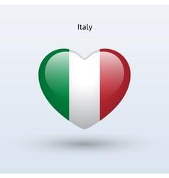 Love Italy symbol Heart flag icon vector image